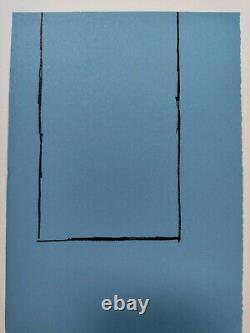 MOTHERWELL ROBERT Lithographie Originale Expressionnisme Abstrait Signé Justifié