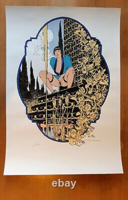 Manara Louise Brooks Sérigraphie Signée 001/150 Aedena 1984 52.5x75.5cm