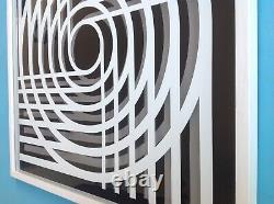 Marcello MORANDINI (1940) Tableau 3D Signée 60ex. Op Art Optique Cinétique 52cm