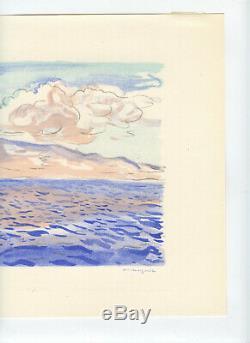 Marquet Albert Rare Lithographie 1947 Signée Main Num/100 Handsigned Lithograph