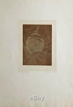 Max ERNST, Masque, 1950 / Hand signed etching print