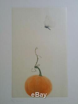 Mezzotinte Orig Mikio Watanabé sign/n° Papillon Hyperrealiste Japonais 2012