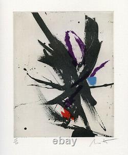 Miotte Jean Gravure Signée Au Crayon Num/40 Handsigned Numb/40 Etching Abstrait