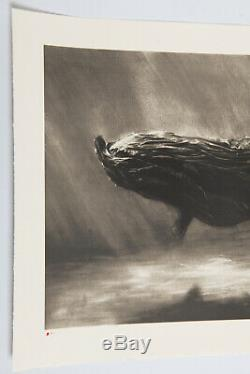 Murmure Garbage Whale Signed Hand Embellished Lithograph /50 Street Art