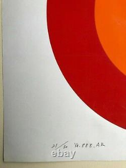 Naomi OKUYA Op Art / Cinétique Sérigraphie Japon Paris 20ex Naomy S/N (Vasarely)