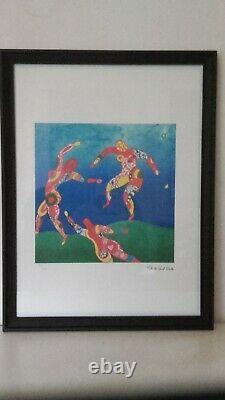 Niki De Saint Phalle -La Danse Lithographie signée et numérotée avec cadre noir