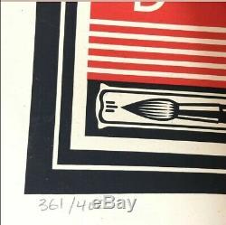 OBEY SHEPARD FAIREY LOTUS WOMAN 361/400 DISTRICT 13 DROUOT Lithographie