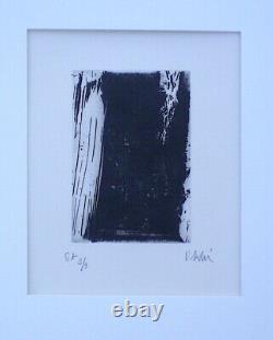 OLIVIER DEBRÉ. Eau-forte originale, numérotée et signée. E. A 2/3 exemplaires