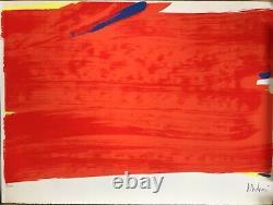 Olivier Debré Rare Lithographie Originale Epreuve Abstraction Lyrique Signée
