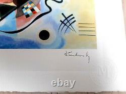 Original M Arts Edition Kandinsky Lithographie Signée Numérotée 150 CADRE INCLUS