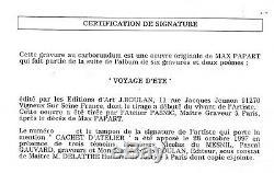 PAPART Max Album voyage d'été Planche 2 Gravure au carborundum numérotée