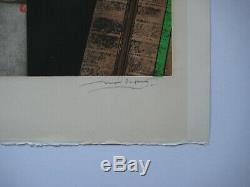 Papart Max Gravure Ea Signé Au Crayon Num/18 Handsigned Numb Etching Abstraction