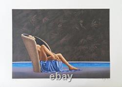Patrick LE HEC'H La piscine LITHOGRAPHIE Originale signée, 350 ex