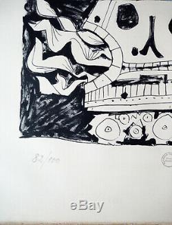 Picasso Lithographie signée au crayon par l'artiste Ed 100 ex. Mourlot Imprimeur