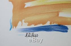 Pierre BELLIER CANNES La croisette LITHOGRAPHIE signée au crayon #600ex