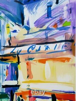 Pierre BELLIER CANNES La croisette LITHOGRAPHIE signée au crayon, 600ex