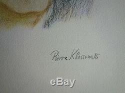 Pierre KLOSSOWSKI Tête de Roberte LITHOGRAPHIE ORIGINALE SIGNEE /99ex 1996