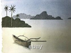 Pierre Le Tan Mers du Sud Original Lithograph Rives paper Numbered Signed plate