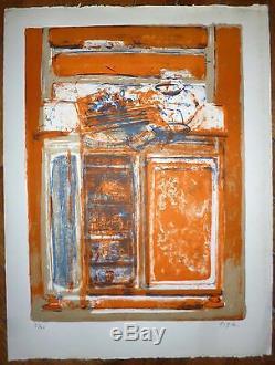 Piga Bernard lithographie signée numérotée art abstrait abstraction