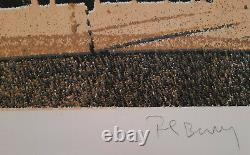 Pol Bury Sérigraphie Originale Signée Numérotée Ramollissement cinétique