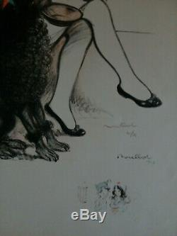 Poulbot 1917Guerre 14-18, grande lithographie ancienne signée et N° 10/25