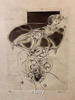 RARE! Hans Bellmer Analogien. 5 Kupferstiche Propyläen 1971 Set de 5 gravures