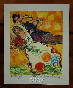RAYA SORKINE lithographie EA numérotée et signée mariage au violon EA 2/7