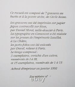 REIMS Cécile Ailleurs 1992. ALBUM COMPLET de ses 7 Gravures Justifié & signé