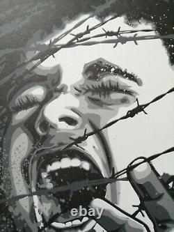 RNST j'ai mal à ma liberté 2 Signé et numerotéSérigraphie Street art