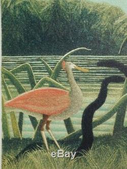 ROUSSEAU Henri La charmeuse de serpent LITHOGRAPHIE Originale signée #1976