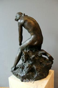 Raoul LARCHE & Susse Le pecheur napolitain Rare bronze signé & numeroté