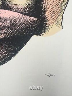 Roland TOPOR Ne pas voir, ne pas, Sérigraphie signée, 1970