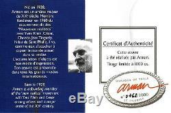 SCULPTURE ARMAN MUSIQUE DE TABLE 1998- Métal Argenté-Signé-Numéroté