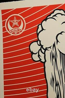 SHEPARD FAIREY signée GREETINGS FROM IRAQ Large Format Sérigraphie obey giant