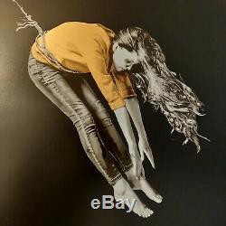 SNIK Hold Fast Hope Gold-Black edition /21 Rare print signed Whatson Banksy Stik