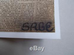 Sage Graffiti Spray Pin Up , Sérigraphie Originale N° 1 / 1 (Hand Finish)
