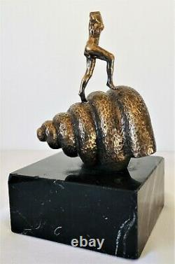 Salvador DALI (Edition plaqué Or 24K)-Sculpture-Bronze-Signé-Numéroté-Certificat