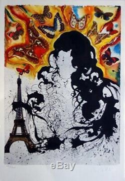 Salvador DALI Paris Lithographie originale signée &n° #SNCF Suite Papillon