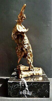 Salvador Dali (8 kg)Sculpture-Bronze-Numérotée-Signée-Certif-1975(Picasso Koons)