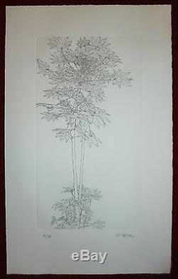 Sam Szafran gravure originale signée numérotée Art Abstrait feuillage