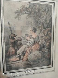 Scène pastorale/2 gravures J. B. Huet (1745-1811) /Gilles Demarteau (1722-1776)