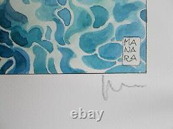 Serigraphie de Milo Manara Le Plongeon , Signée et numérotée