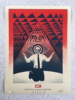 Shepard Fairey (OBEY) Obey Conformity Trance (Red) Sérigraphie signée xx/350