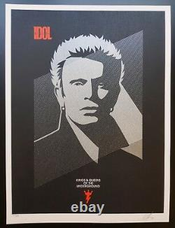 Shepard Fairey Obey, Billy Idol, Signed Numbered xxx/450
