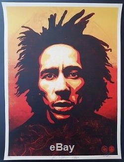 Shepard Fairey Obey, Bob Marley 2014 Signed numbered xxx/450