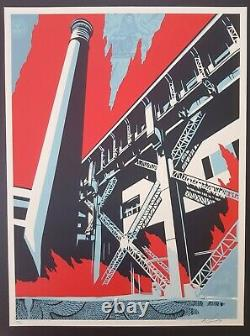 Shepard Fairey Obey, Fossil Factory Signed numbered xxx/450