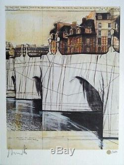 Signed limited edition print Christo and Jeanne-Claude & catalogue