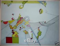 Simada Sizu lithographie signée numérotée art abstrait abstraction VOSS