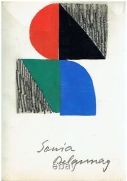 Sonia DELAUNAY Pochoir, 1965, numéroté