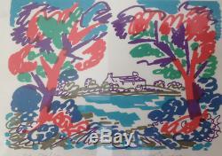Superbe RARE Lithographie Charles Lapicque Eté Breton EA 20/20 signée 1969